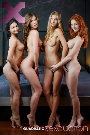 X Art Caprice, Angelica, The Red Fox, Keira - Quadratic Sexquation
